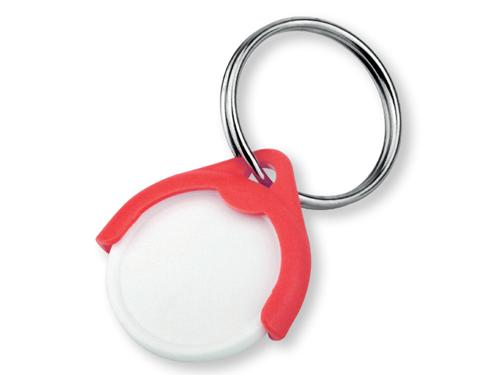 CATCH CZ plastový přívěsek - žeton vel. 10 Kč, červená