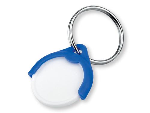 CATCH CZ plastový přívěsek - žeton vel. 10 Kč, modrá