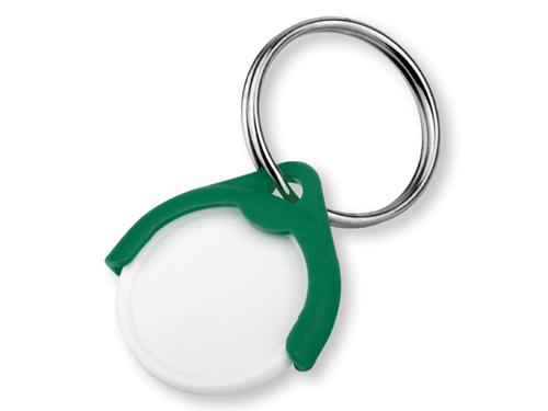 CATCH CZ plastový přívěsek - žeton vel. 10 Kč, zelená