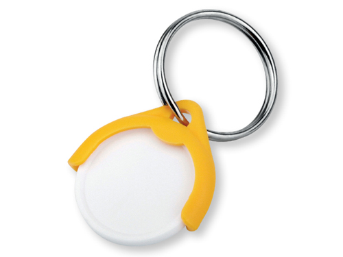 CATCH CZ plastový přívěsek - žeton vel. 10 Kč, žlutá