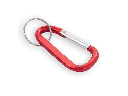 GARIN kovový přívěsek na klíče, karabina, Červená