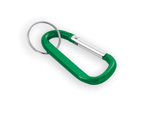 GARIN kovový přívěsek na klíče, karabina, Zelená