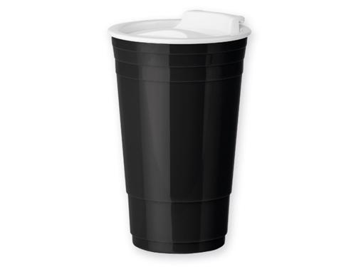 GOBLET plastový termohrnek s dvojitou stěnou, 500 ml, černá