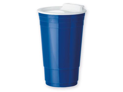 GOBLET plastový termohrnek s dvojitou stěnou, 500 ml, modrá