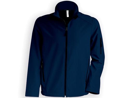 KARIB pánská softshellová bunda, 300 g/m2, vel. L, KARIBAN, Noční modrá