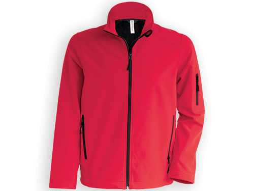 KARIB pánská softshellová bunda, 300 g/m2, vel. XL, KARIBAN, Červená