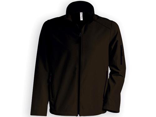 KARIB pánská softshellová bunda, 300 g/m2, vel. XL, KARIBAN, Hnědá