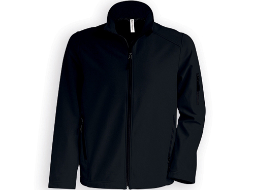 KARIB pánská softshellová bunda, 300 g/m2, vel. XXL, KARIBAN, Černá