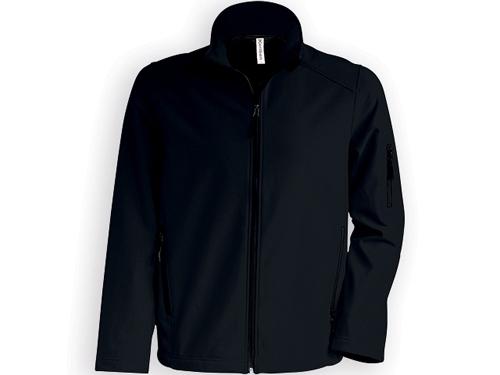 KARIB pánská softshellová bunda, 300 g/m2, vel. XXXL, KARIBAN, Černá