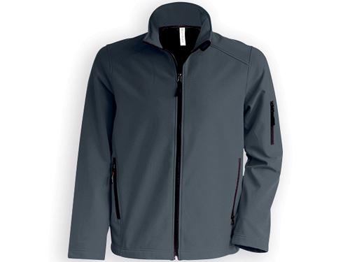 KARIB pánská softshellová bunda, 300 g/m2, vel. XXXL, KARIBAN, Ocelově šedá