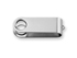 OTOČNÝ KRYT kovový otočný kryt - USB FLASH MIX, Saténově stříbrná