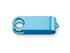 OTOČNÝ KRYT kovový otočný kryt - USB FLASH MIX, Světle modrá