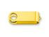 OTOČNÝ KRYT kovový otočný kryt - USB FLASH MIX, Žlutá