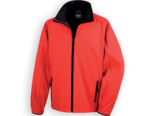 RESU pánská softshellová bunda, 280 g/m2, vel. M, RESULT, Červená