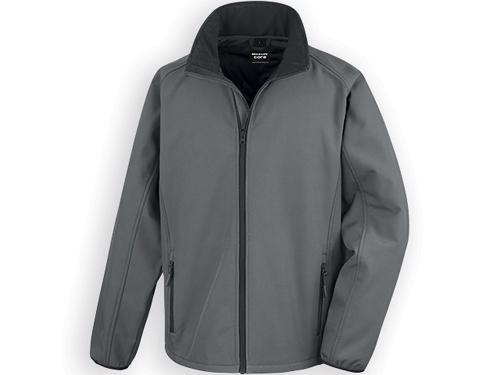 RESU pánská softshellová bunda, 280 g/m2, vel. M, RESULT, Šedá