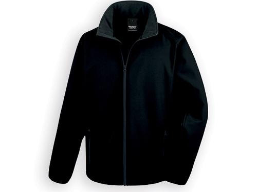 RESU pánská softshellová bunda, 280 g/m2, vel. XL, RESULT, Černá