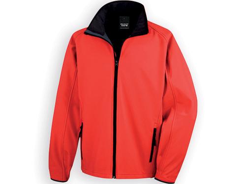 RESU pánská softshellová bunda, 280 g/m2, vel. XXL, RESULT, Červená