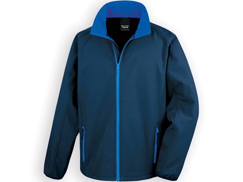 RESU pánská softshellová bunda, 280 g/m2, vel. XXL, RESULT, Modrá