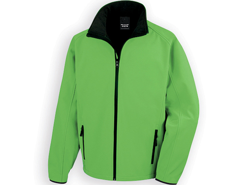 RESU pánská softshellová bunda, 280 g/m2, vel. XXL, RESULT, Zelená