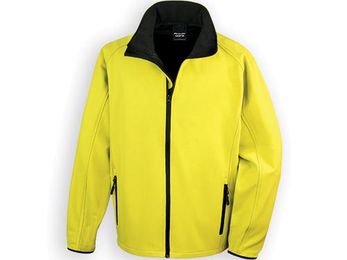 RESU pánská softshellová bunda, 280 g/m2, vel. XXL, RESULT, Žlutá