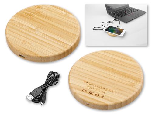 WOODER bezdrátová dřevěná nabíječka, přírodní