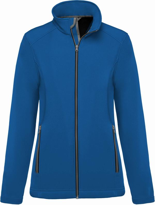 Dámská bunda 2 Layers Softshell Jacket. Barva: Light Royal Blue
